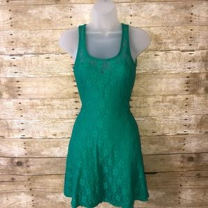 American Rag Lace Green Dress Size S